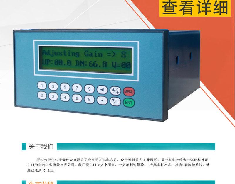 盘装式超流量计声波展示